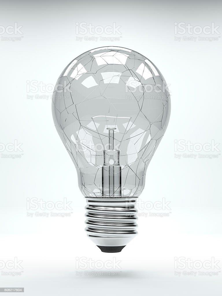 クラックト電球 ロイヤリティフリーストックフォト