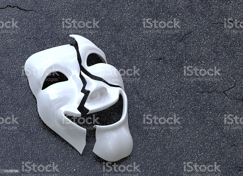 Cracked Mask stock photo