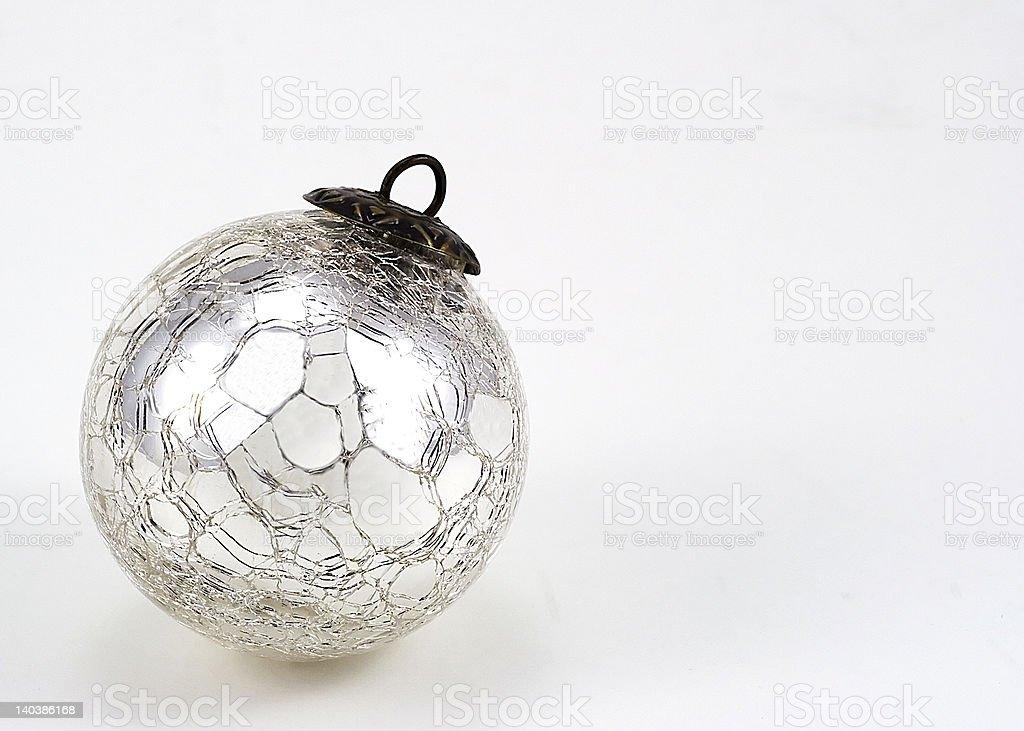 Cracked Mirror Christmas Ornament royalty-free stock photo