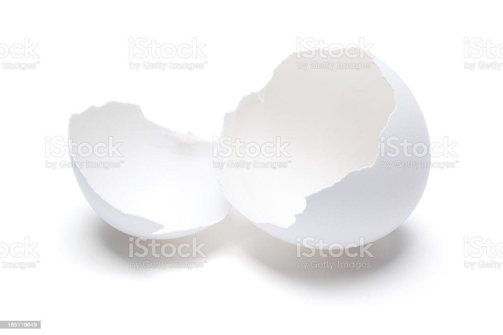 Cracked Open Egg Shell stock photo