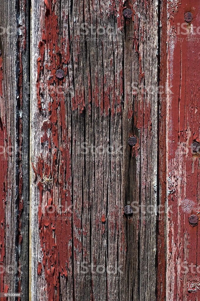 Cracked Paint on Barn Board royalty-free stock photo