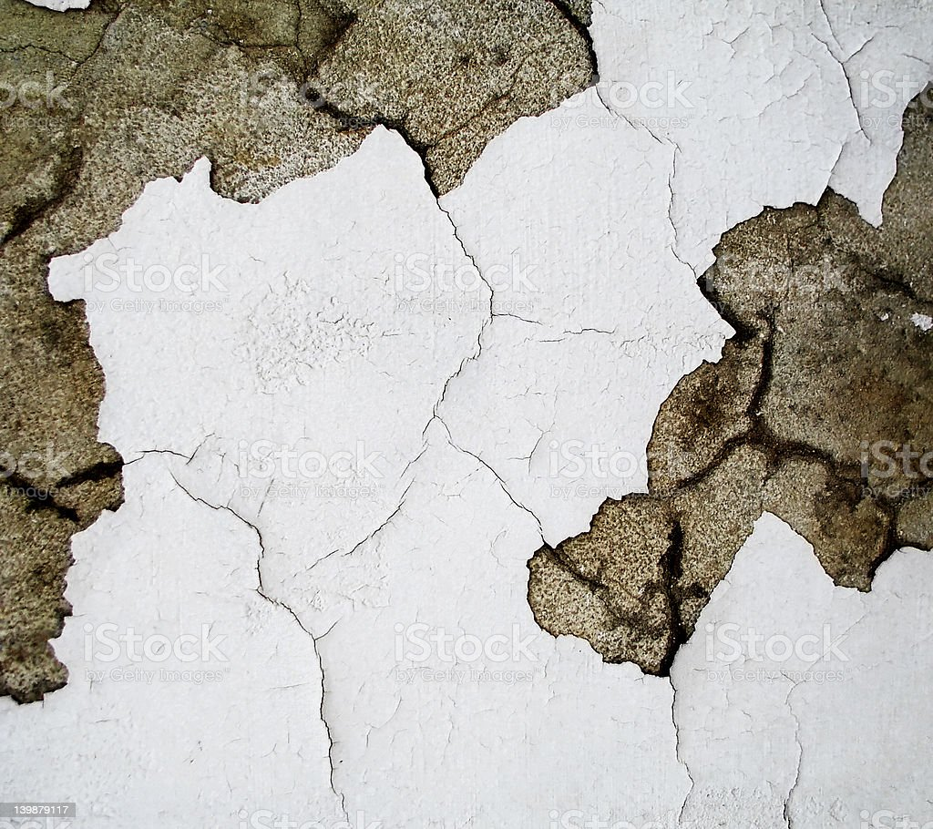 cracked paint stock photo