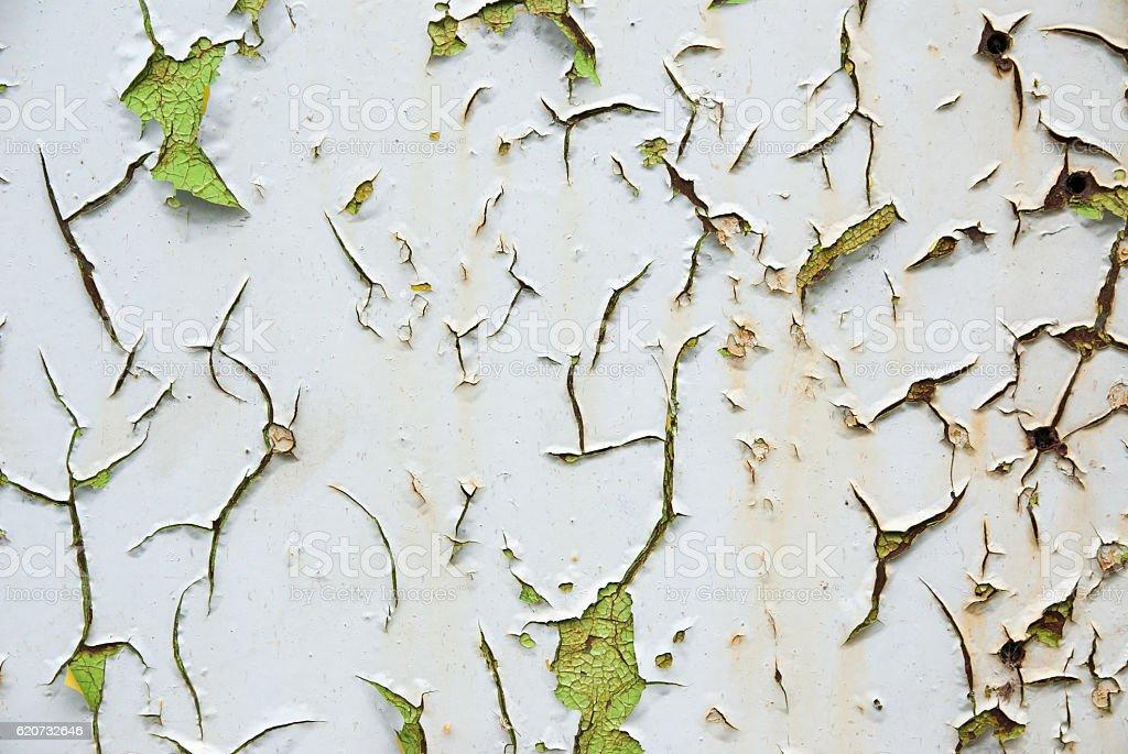 cracked paint texture (horizontal) stock photo
