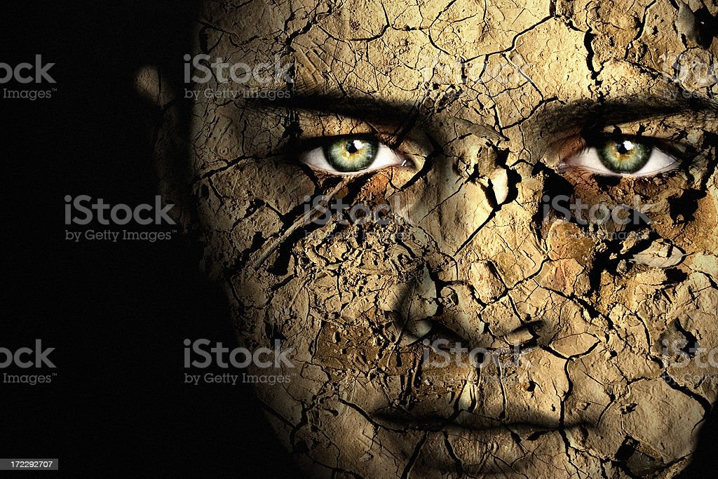 Cracked (Colour) royalty-free stock photo