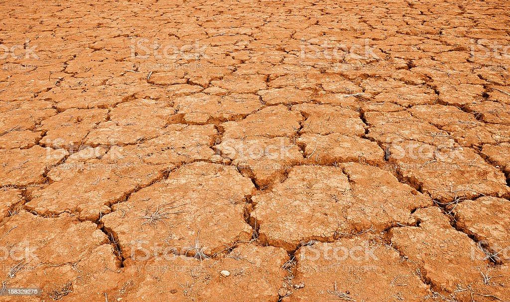 Gebrochen Rot land Lizenzfreies stock-foto