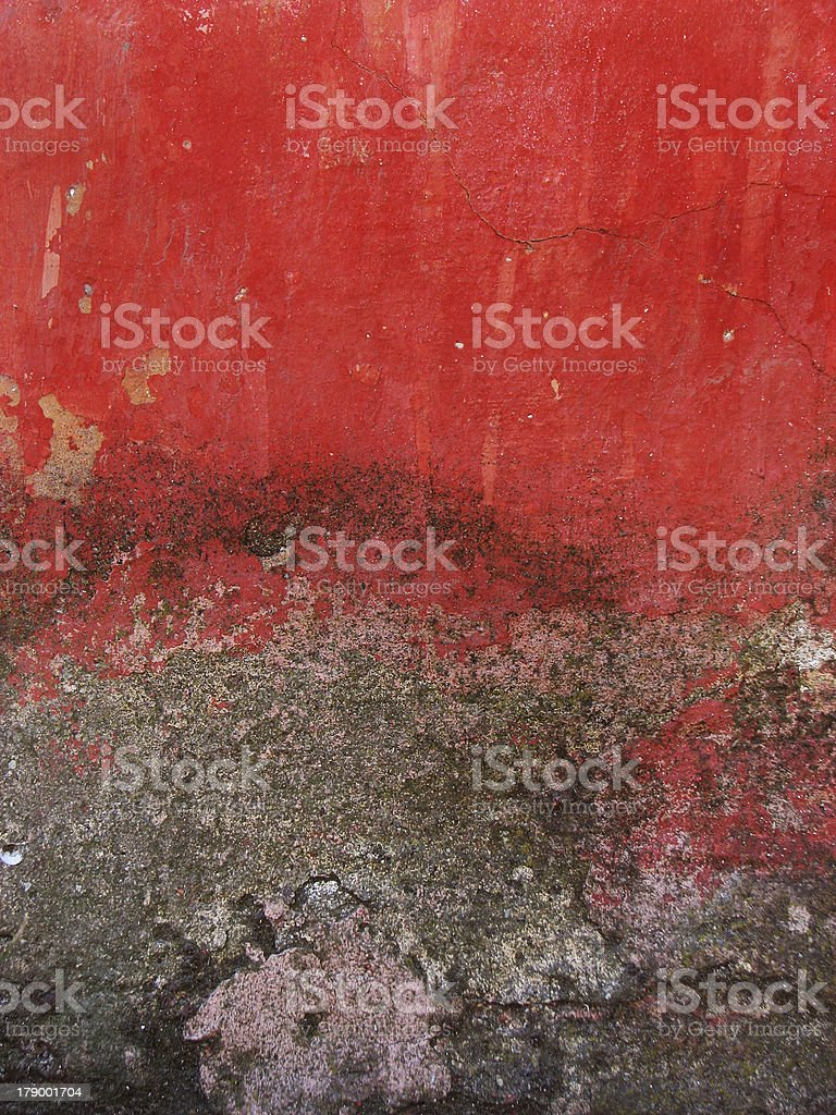 Cracked red old wall background royalty-free stock photo