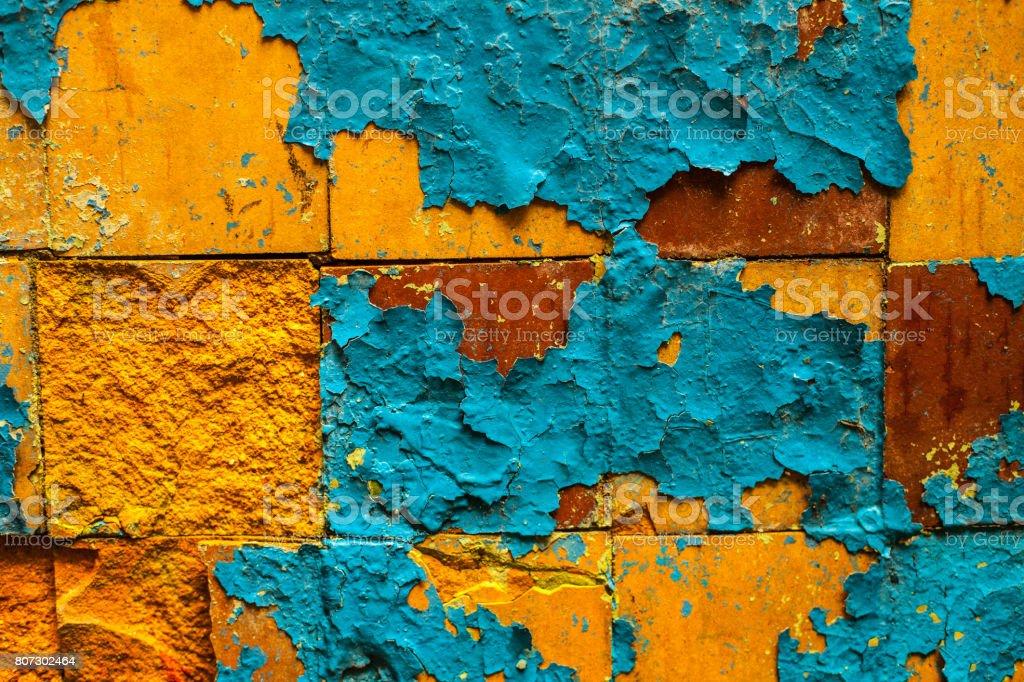 Cracked retro tiles floor background texture stock photo
