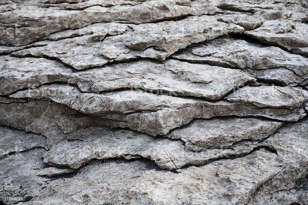 Cracked rock stock photo