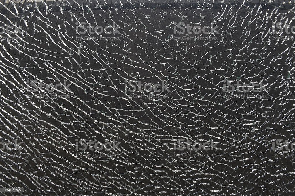 Cracked safety glass royalty-free stock photo