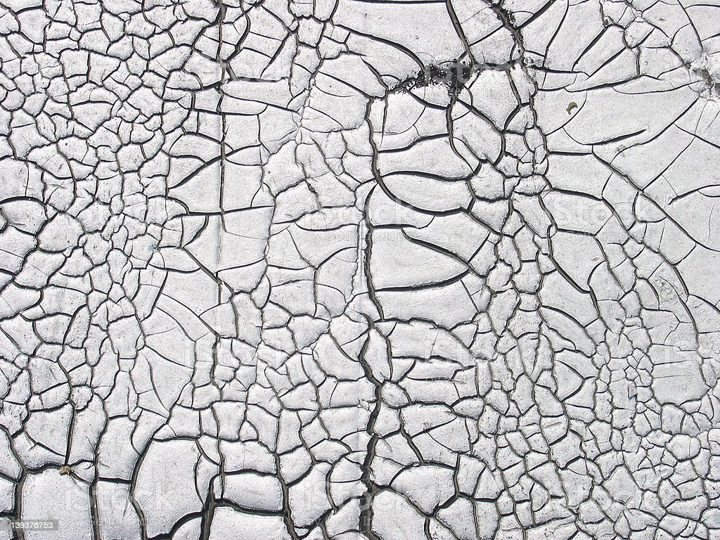 A Cracked silver roof royalty-free stock photo