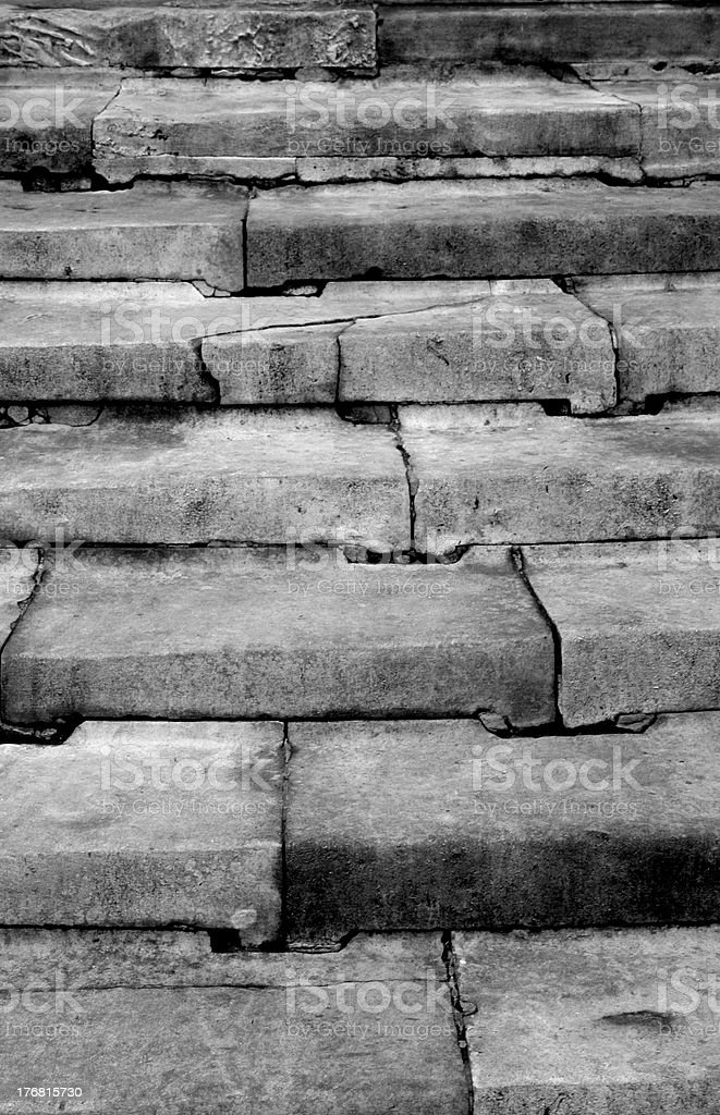 cracked stone stairs royalty-free stock photo