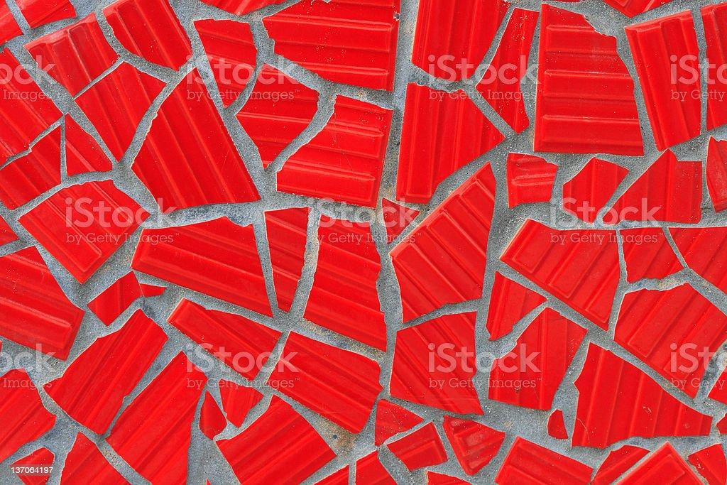 Cracked Tile Mosaic royalty-free stock photo