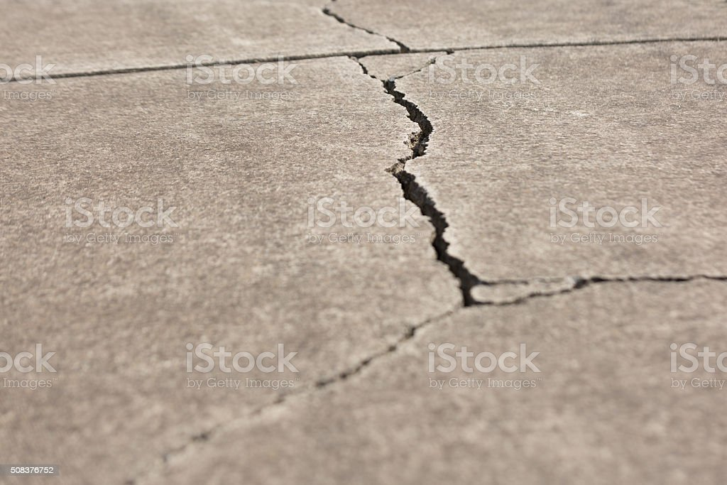 Cracked Walkway stock photo