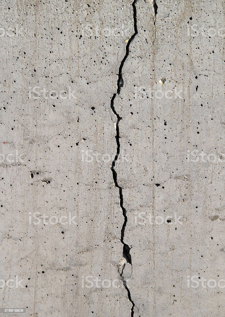 Cracked wall in Berlin. stock photo