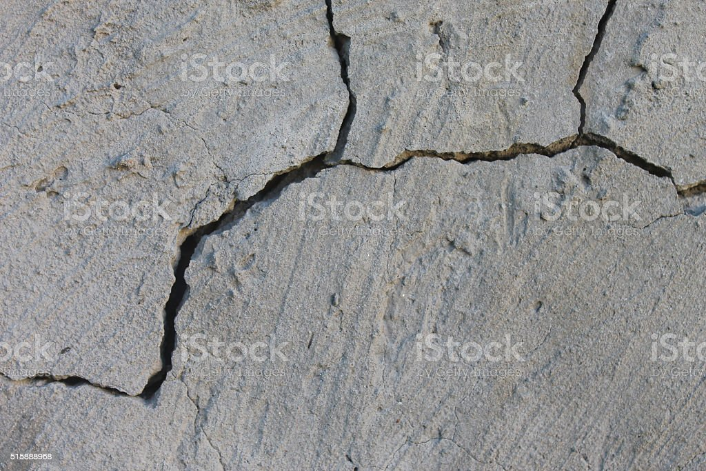 Cracked Wall in White stock photo