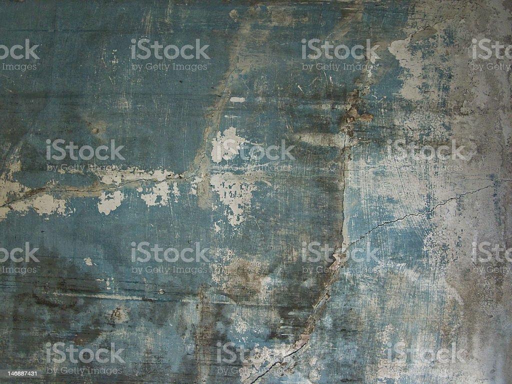 Cracked Wall royalty-free stock photo