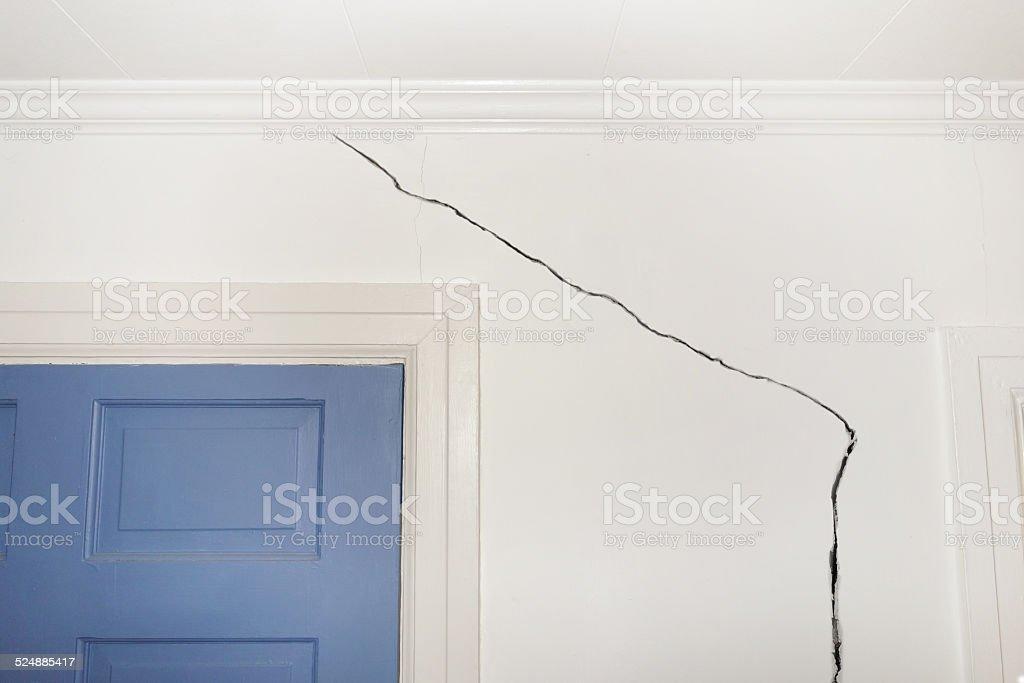 Cracked wall stock photo