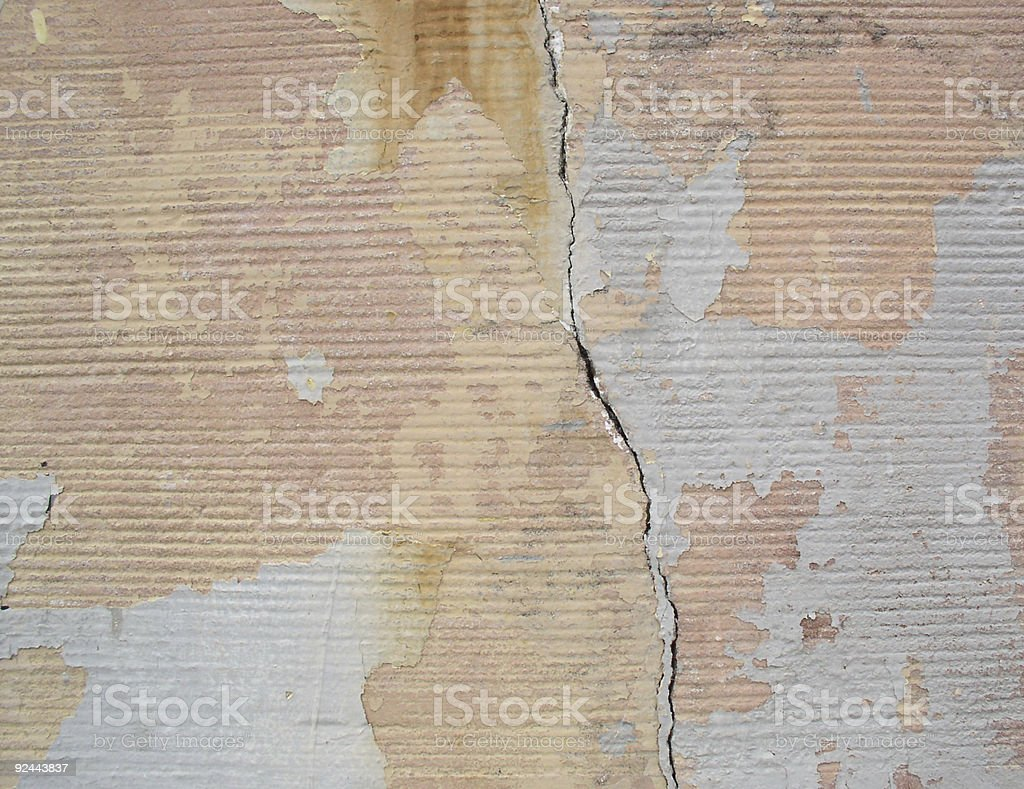 Cracked Wall royalty-free stock photo