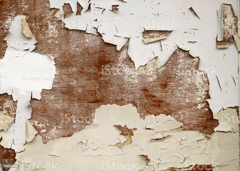 Cracked wood panel royalty-free stock photo