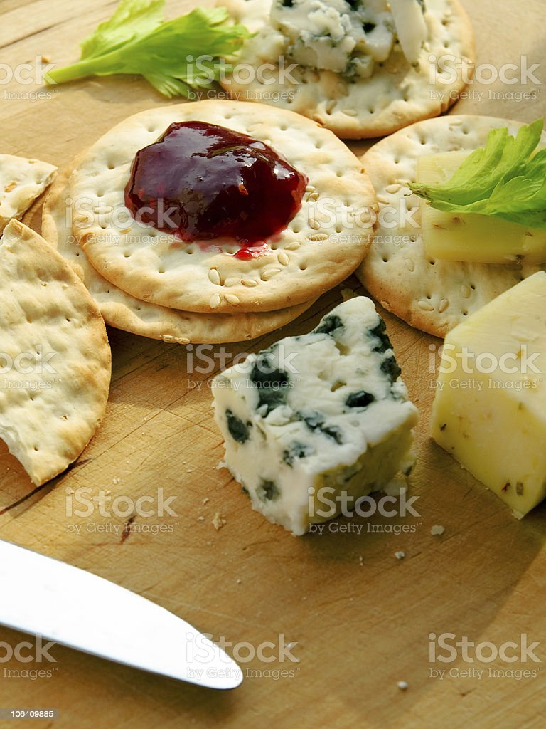 Cracker and Cheese royalty-free stock photo