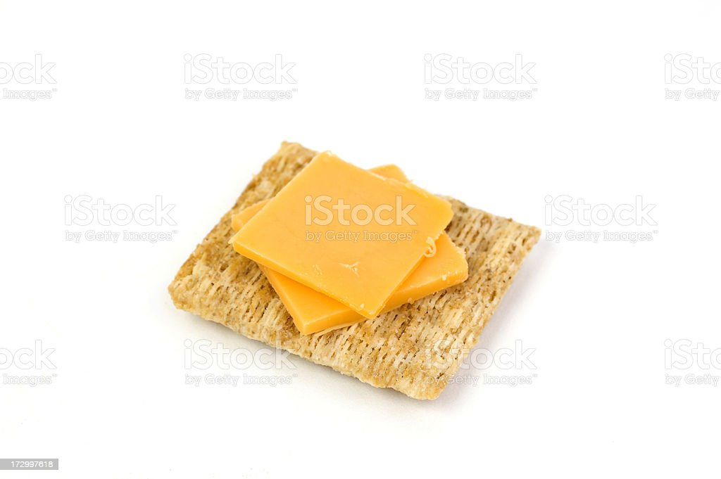 Cracker and Cheese stock photo