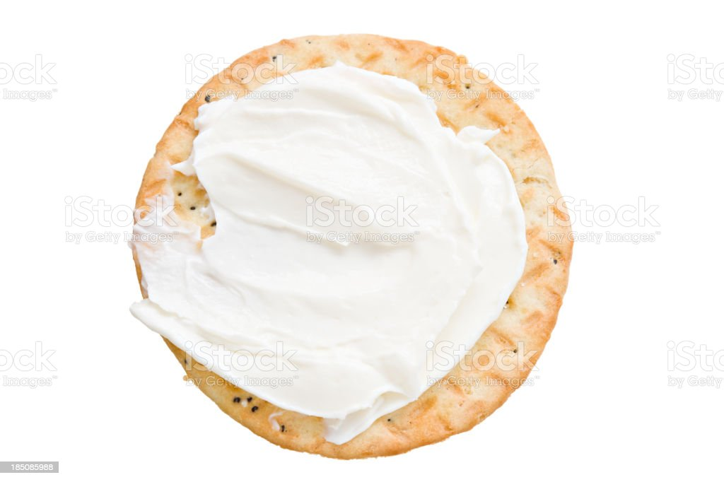 Cracker And Cream Cheese stock photo
