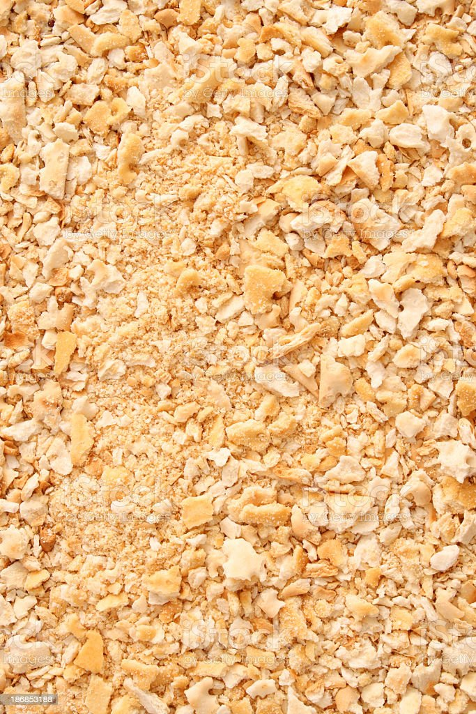 Cracker crumbs background royalty-free stock photo