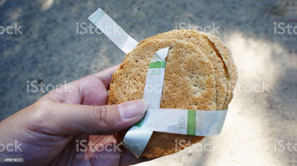 Cracker for feeding the Deers in Nara City stock photo