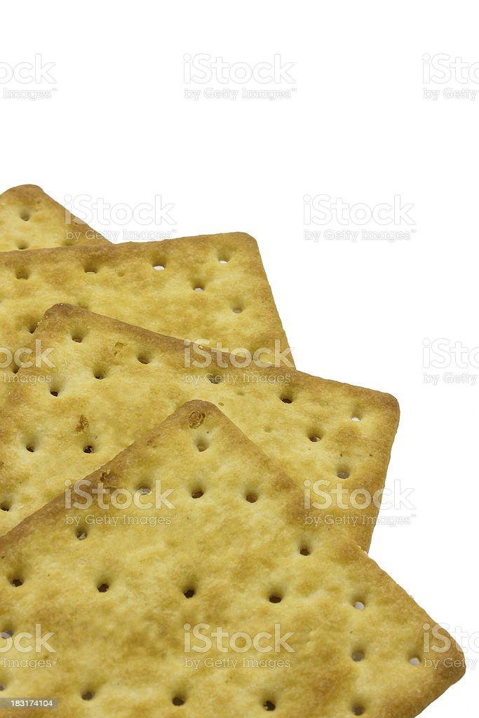 Cracker isolated on white backgroun royalty-free stock photo
