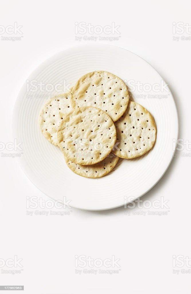 Cracker on plate stock photo