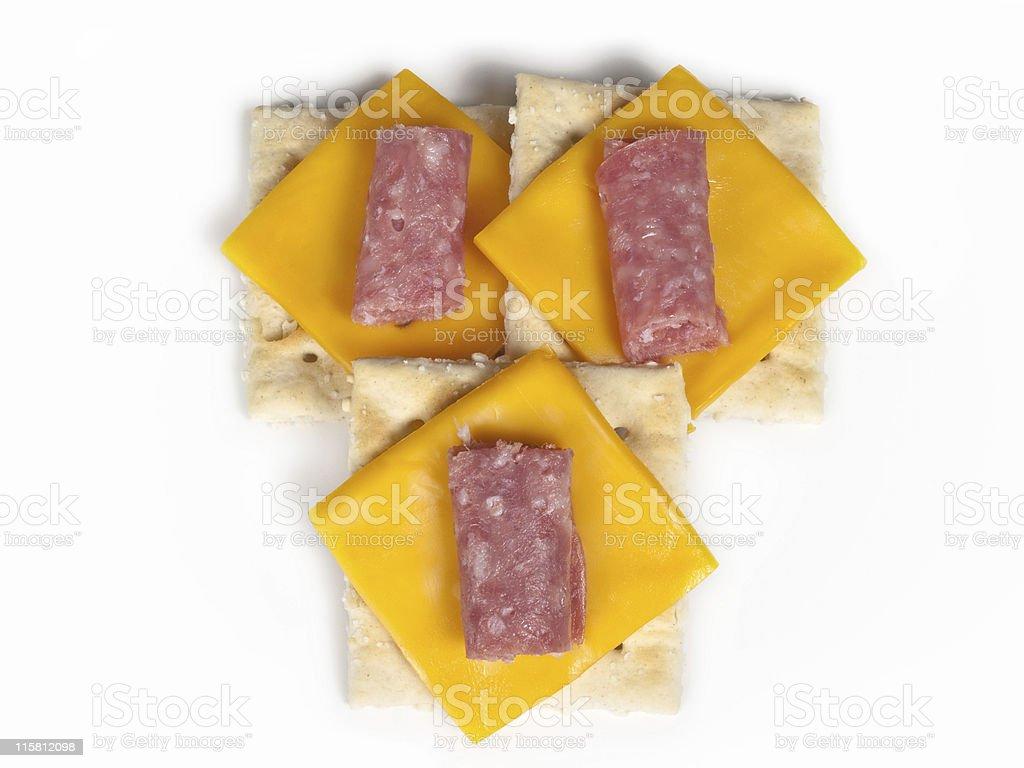 Cracker Snack stock photo