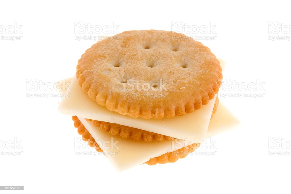 Cracker with cheese stock photo