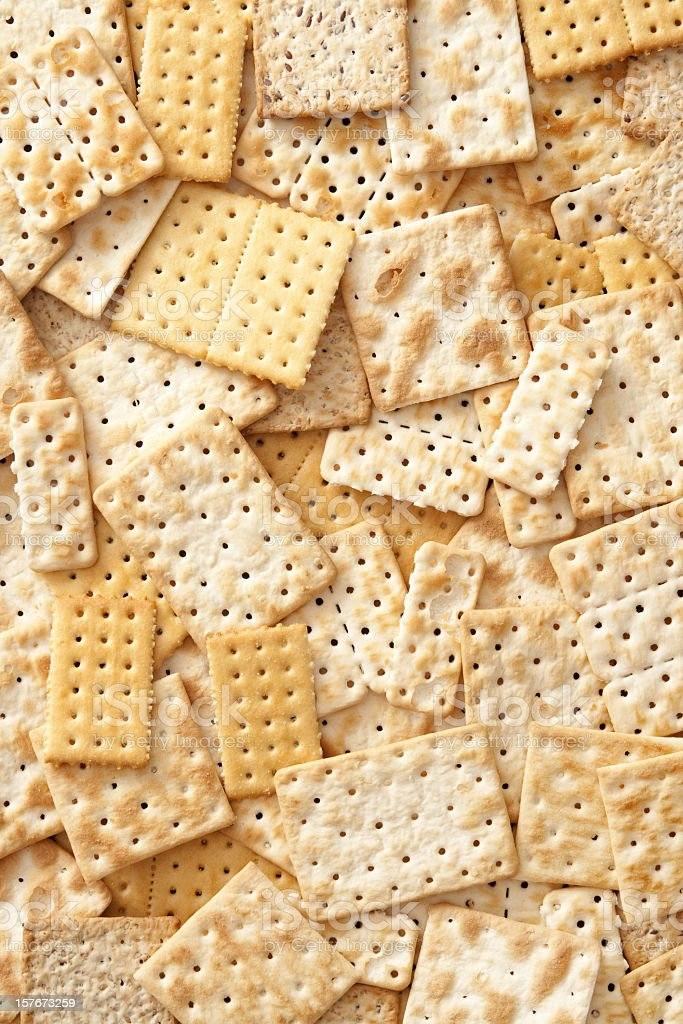 Crackers background stock photo