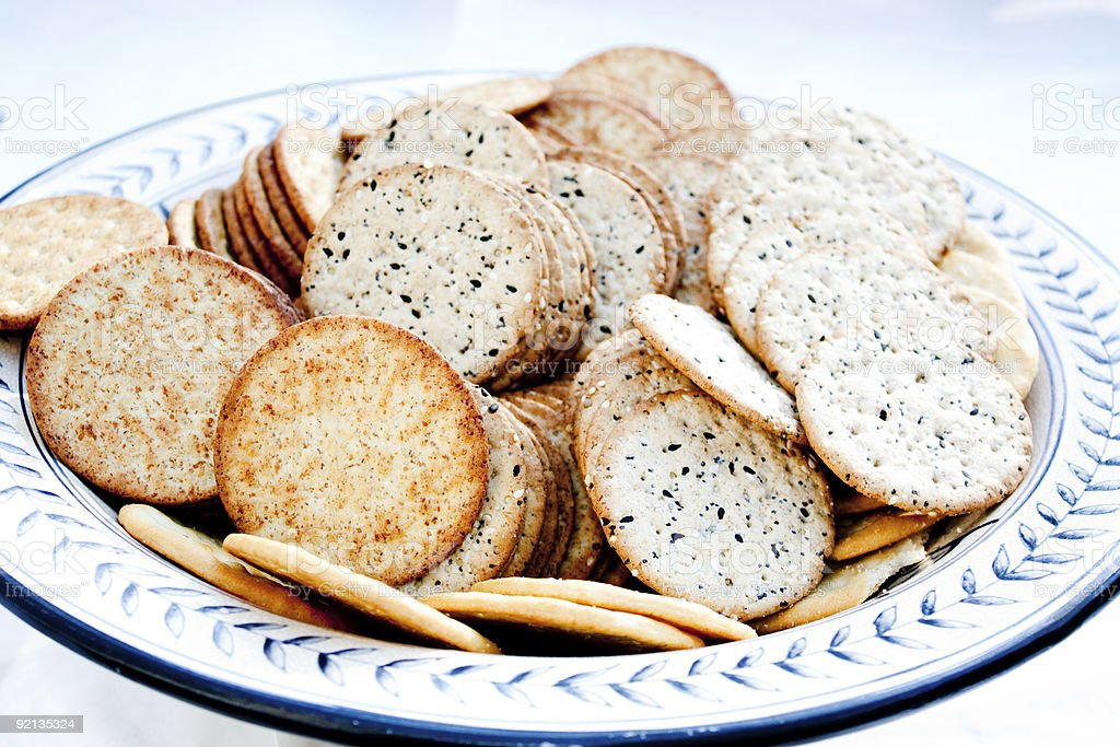 Crackers in a Bowl royalty-free stock photo