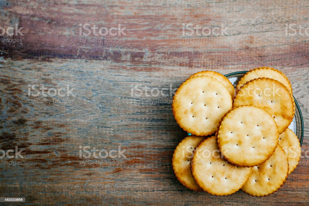 Crackers On A Table stock photo