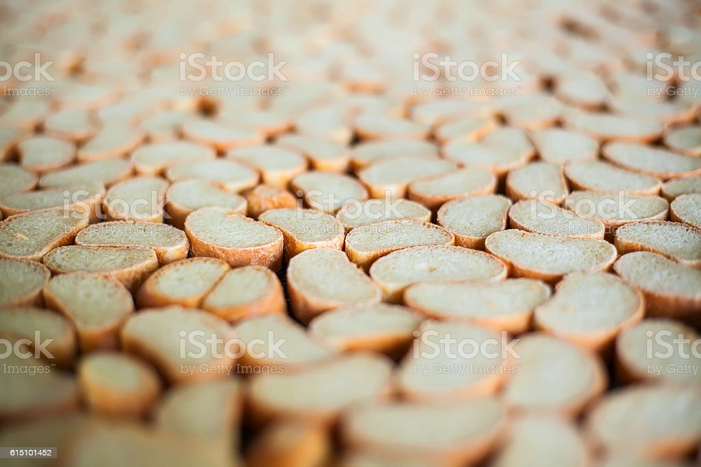 Crackers on the production line at the bakery royalty-free stock photo