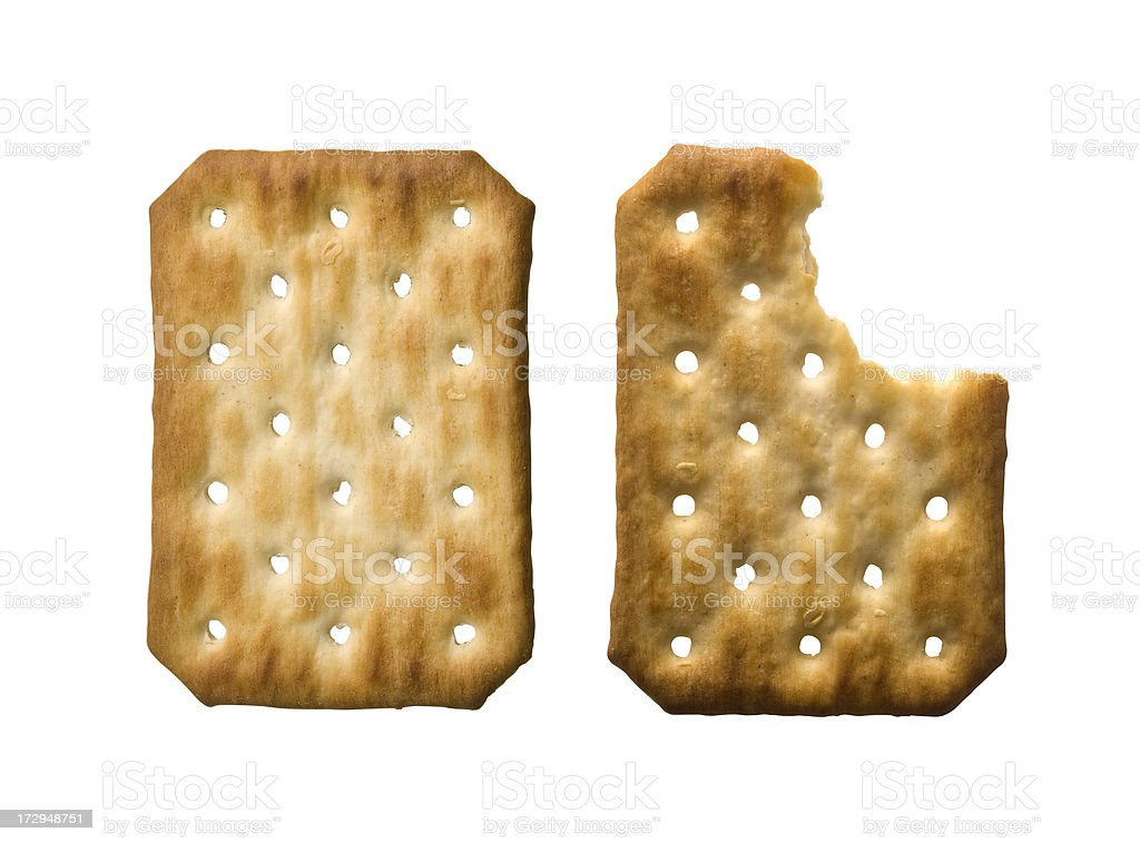 Crackers w/Clipping Path royalty-free stock photo