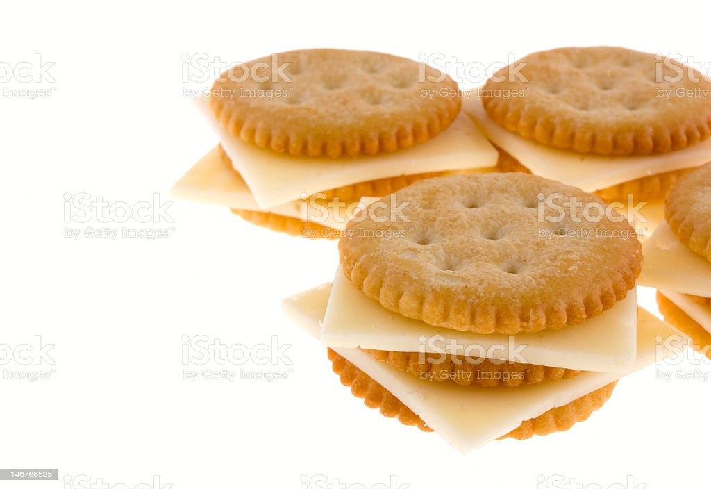 Crackers with cheese royalty-free stock photo