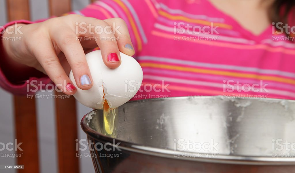 Cracking An Egg royalty-free stock photo