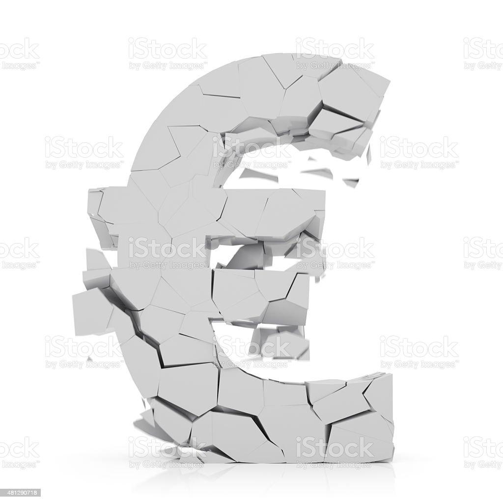Cracking Euro Symbol stock photo