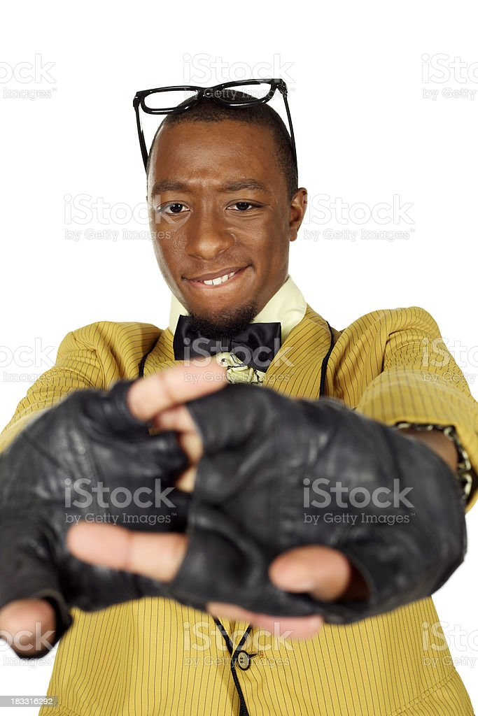 Cracking knuckles. stock photo