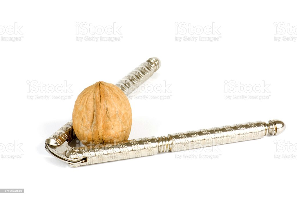 Cracking Nuts stock photo