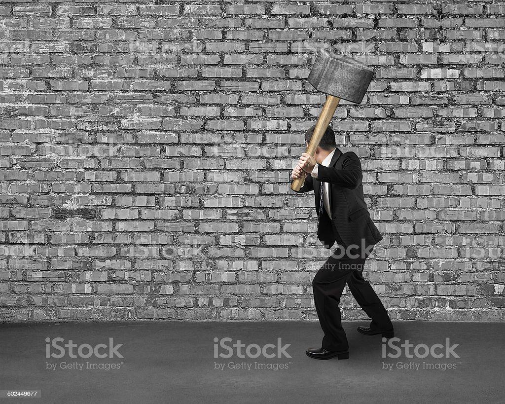 Cracking old bricks wall stock photo