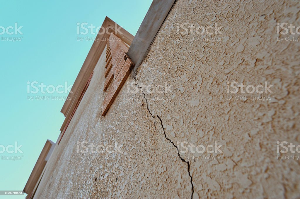 cracking wall stock photo