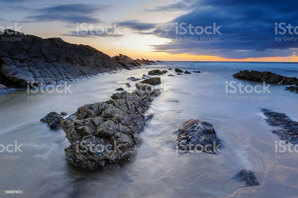 Crackington Haven Sunset, Cornwall royalty-free stock photo