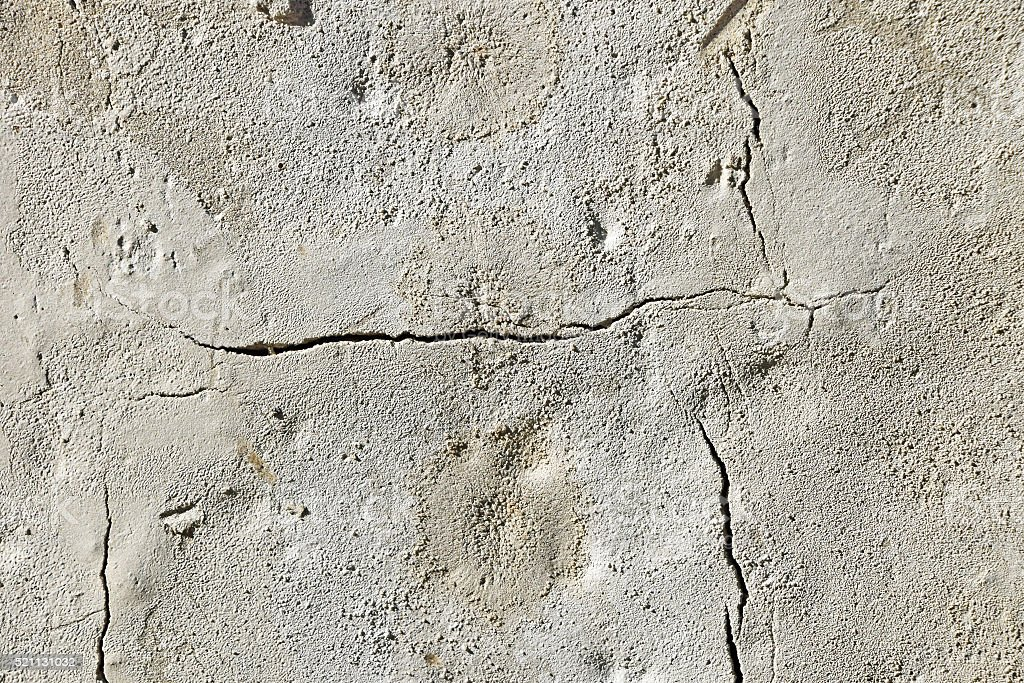 Cracks in grunge concrete wall or floor royalty-free stock photo
