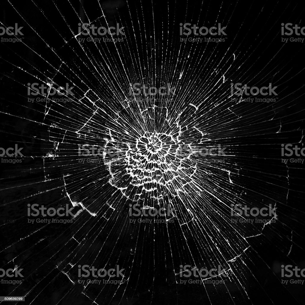 Cracks in the glass stock photo