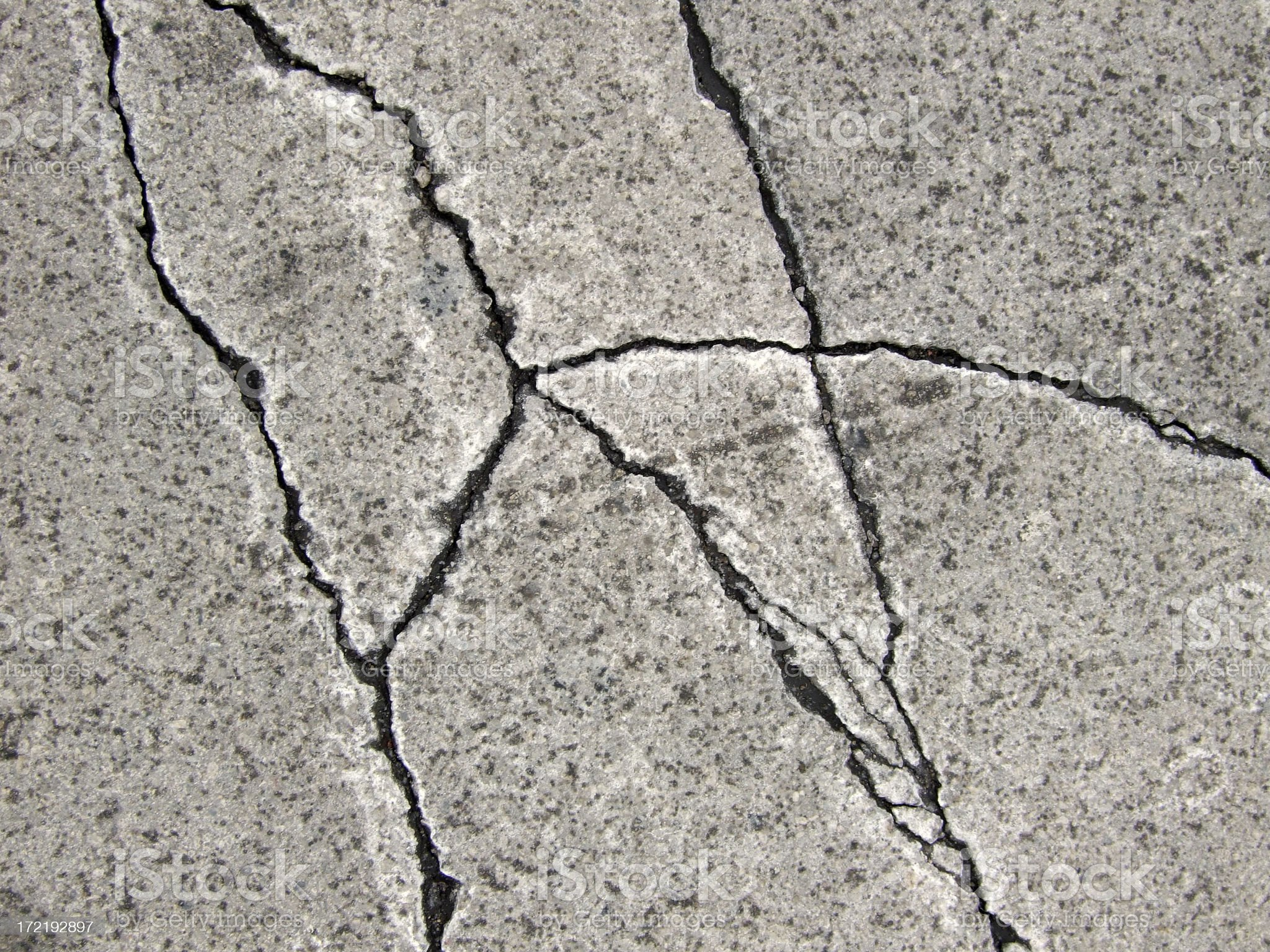 Cracks in the pavement royalty-free stock photo