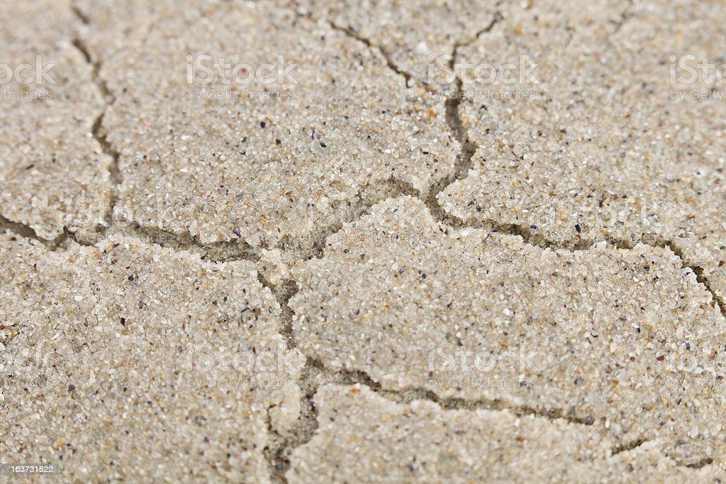 cracks sand royalty-free stock photo