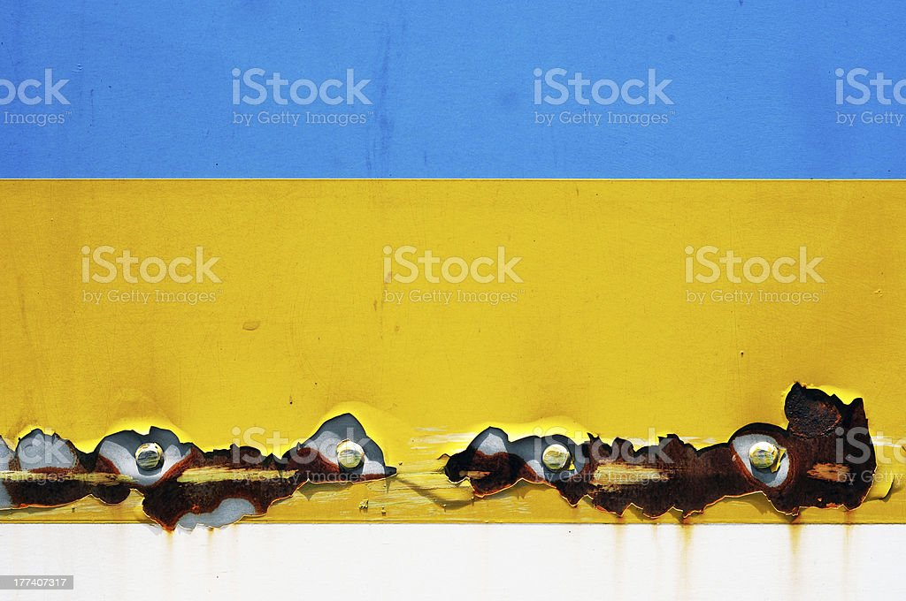 Cracks steel tin abstract pattern royalty-free stock photo